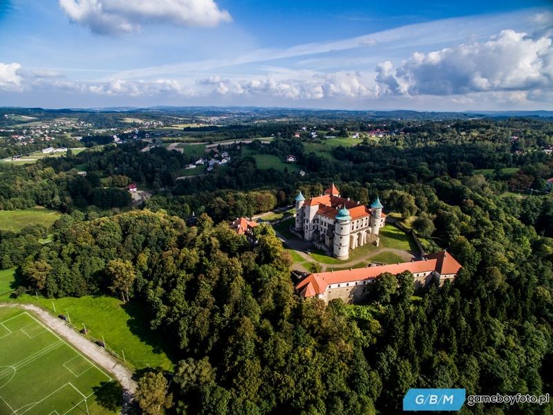 Zamek w Nowym Wiśniczu ujęcia z powietrza